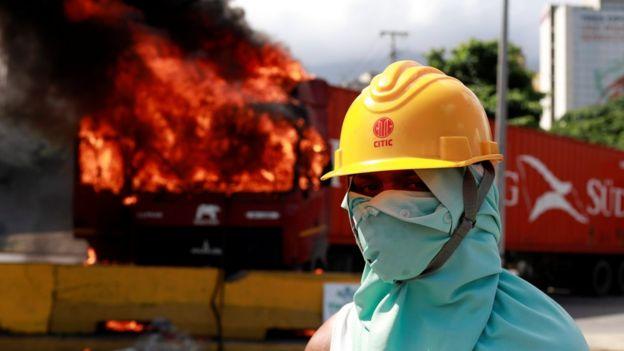 Karakas'ta hükümet karşıtı gösteriler