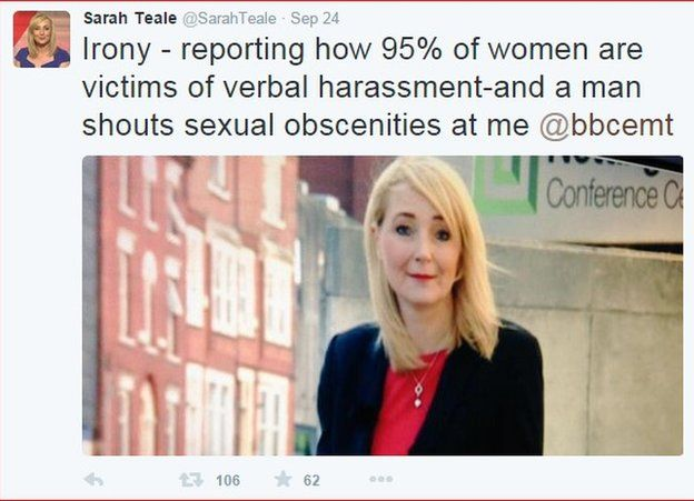 Screenshot of Sarah Teale's Twitter page