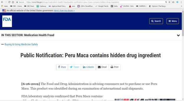 Web de la FDA