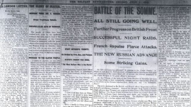 Image result for battle of somme newspaper article