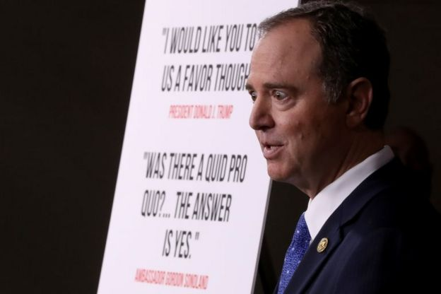 Temsilciler Meclisi İstihbarat Komitesi Başkanı Adam Schiff, yaptıkları soruşturmaya yönelik bulguları açıklarken