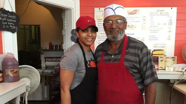 Jamila and Daryle Brantley, owners of C&K Barbecue