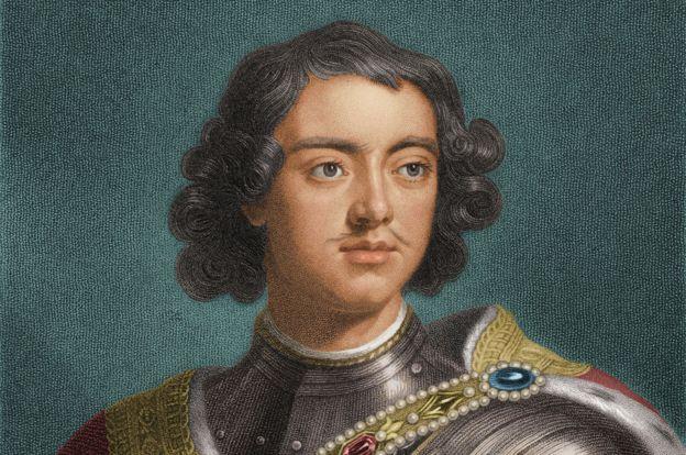 Retrato de Pedro el Grande de Rusia