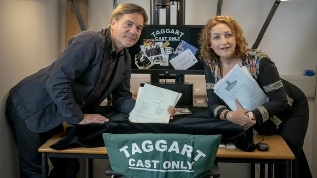 Actress Blythe Duff donates Taggart scripts to university