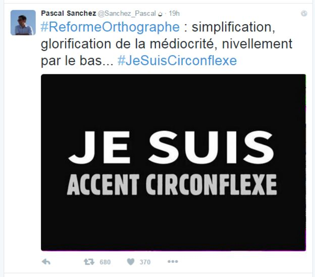 End of the circumflex? Changes in French spelling cause