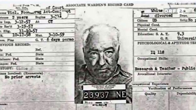 Ficha de prisión de Reich