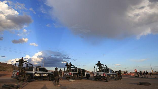 Forças de segurança mexicanas foram colocadas de plantão na região