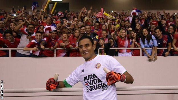 Costa Rica keeper Keylor Navas