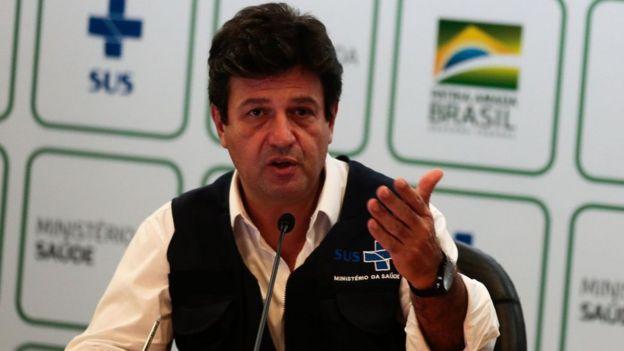 Luiz Henrique Mandetta em entrevista coletiva