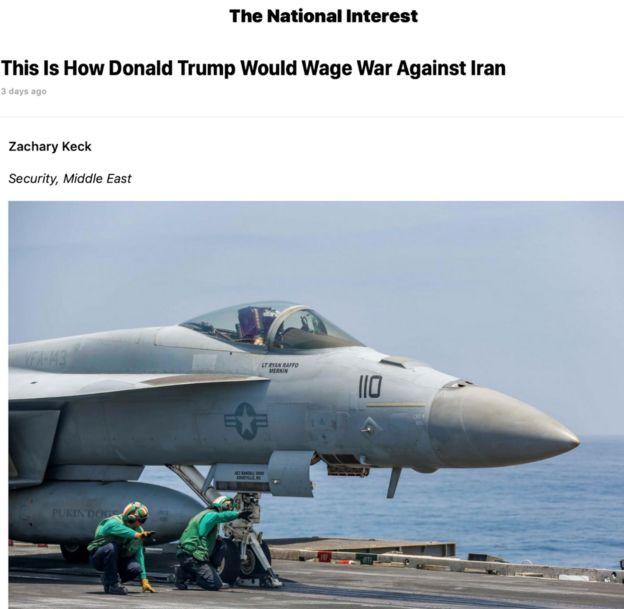 نشریه نومحافظهکار نشنال اینترست در دو مقاله جداگانه به جنگ احتمالی با ایران و سناریوهای شبیهسازی شده در پنتاگون پرداخته