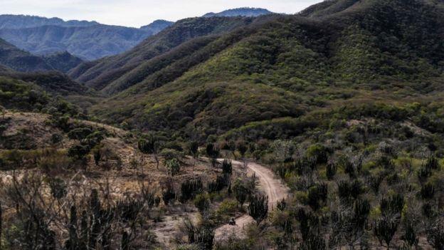 Las montañas de Badiraguato, en el estado de Sinaloa, México