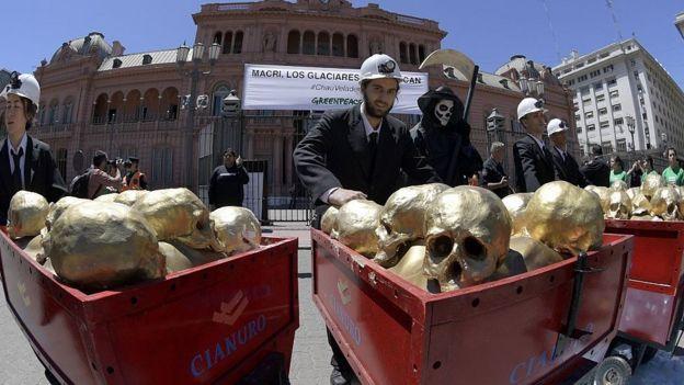Protesta en Argetnina contra Barrick Gold.