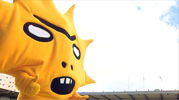The club unveiled a new Shrigley-designed mascot called Kingsley