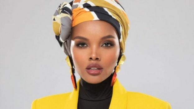 Halima Aden with her trademark hijab