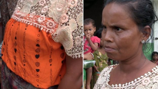 Namun BBC kemudian mengidentifikasi perempuan yang sama di sebuah desa Hindu.