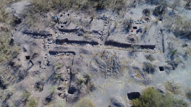 Sitio de la excavación en Iglesia Colorada
