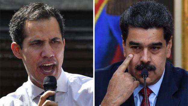 Juan Guaido y Nicolás Maduro