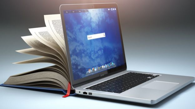 Computadora y libro