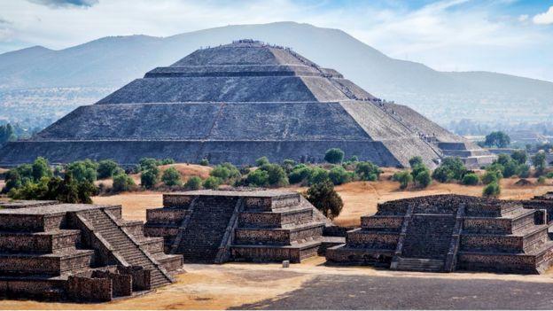 Imagem mostra templo asteca