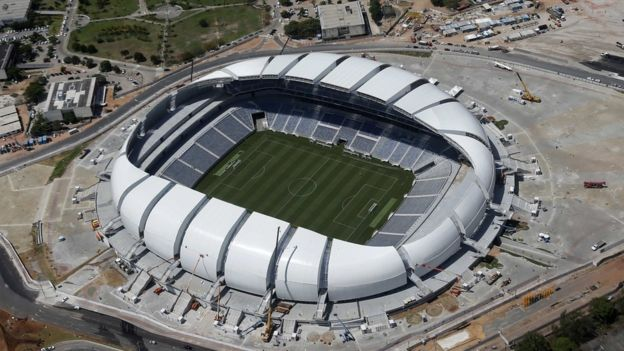 Arena das Dunas, em Natal, sede da Copa de 2014