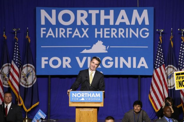 Northam at a campaign event