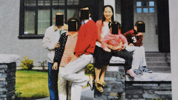 Meng Wanzhou family photo