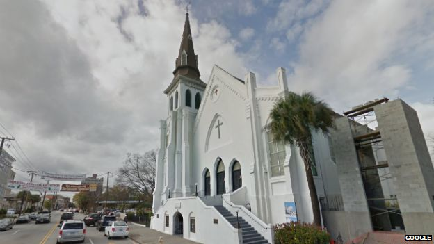 The Emanuel AME Church in Charleston, South Carolina - Google Street View, December 2014