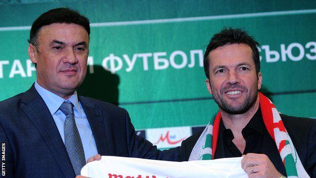 Borislav Mihaylov (left), who resigned on Tuesday