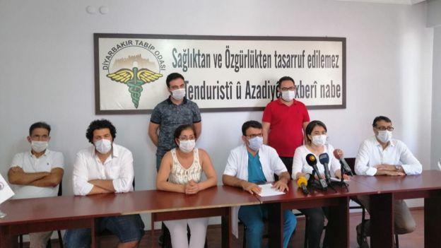 Diyarbakır Tabip Odası yetkilileri