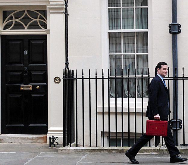 Osborne leaving number 11 Downing St