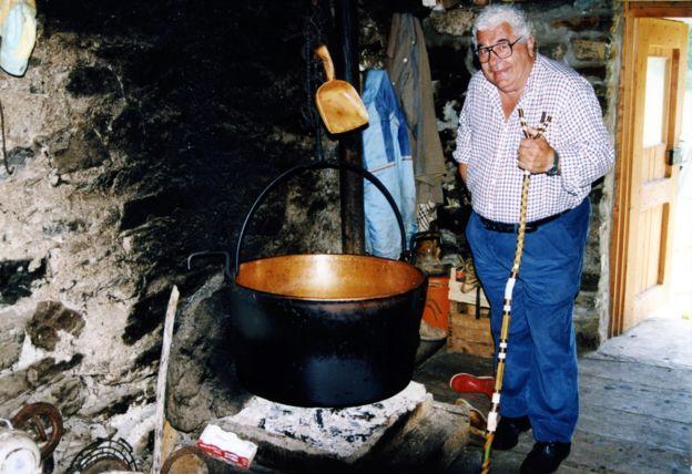 Antonio Carluccio en su programa de televisión