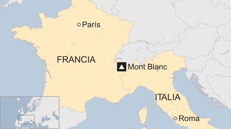 Mapa Mont Blanc