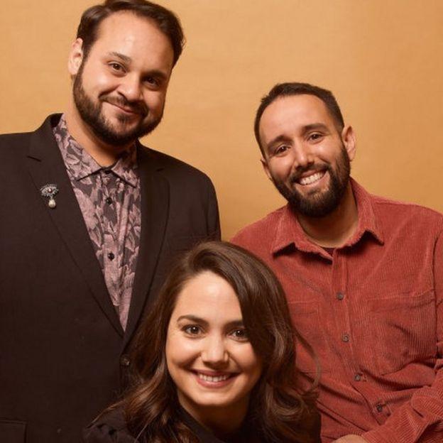 Kareem Tabsch, Cristina Costantini, y Alex Fumero