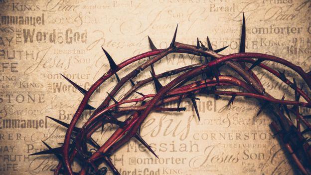 Imagen de la corona de espinas de Jesús.