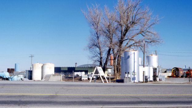 محطة نفطية في الولايات المتحدة