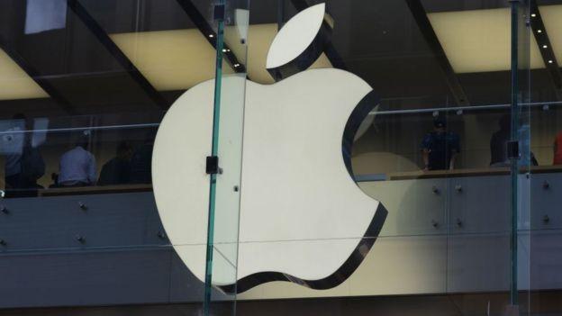 Logo de Apple en almacén de Australia