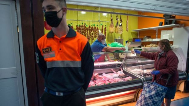 Carnicería en España.