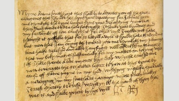 A letter from Henry VIII to Anne Boleyn