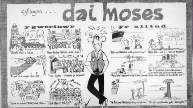 Cartŵn Dai Moses gan Robat Gruffydd