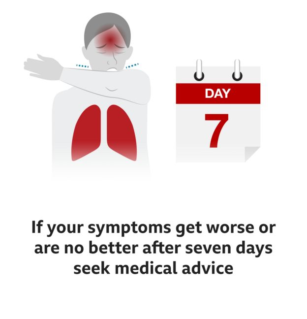 If your symptoms get worse or are no better after seven days seek medical advice