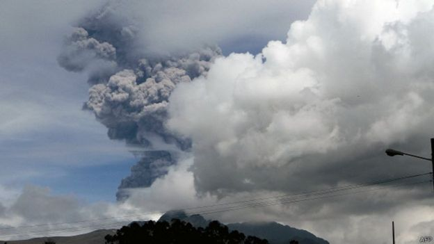 Erupción del volcán Cotopaxi.