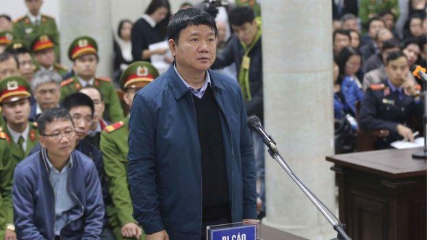 Ông Đinh La Thăng tại phiên tòa xét xử hôm 1/8/2018.