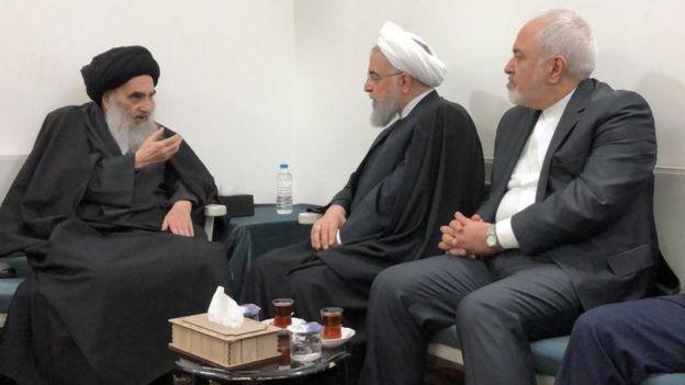 Image result for روحانی با آیت الله سیستانی دیدار کرد