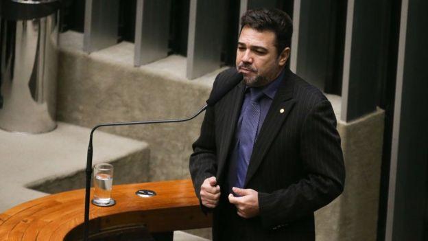 O deputado Marco Feliciano na Câmara