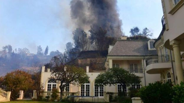 Incendio en Bel Air