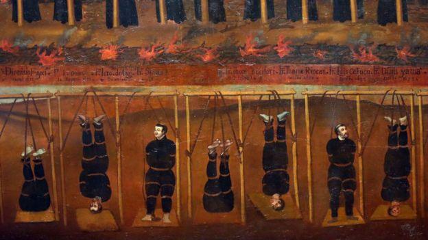 Una imagen de tortura del siglo XVII.