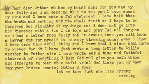 Transcription of Amelia Dyer's confession