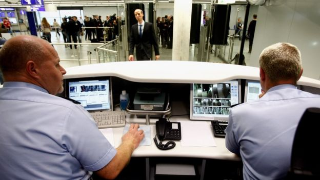 Un control migratorio en Alemania