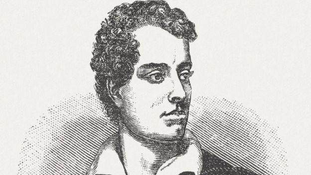 Gravura de Lord Byron