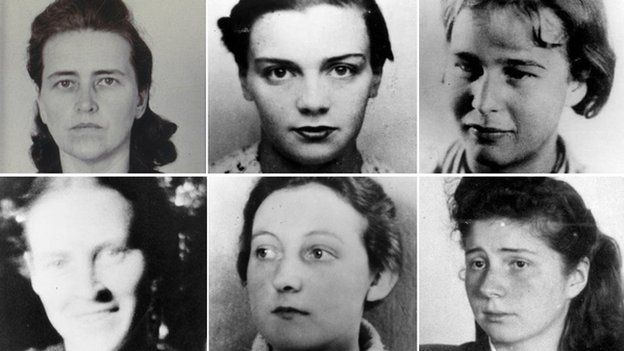 Faces of some female victims of Nazi experiments